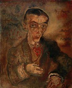 By Oskar Kokoschka (1886-1980), 1910, Conte Verona, oil on canvas.