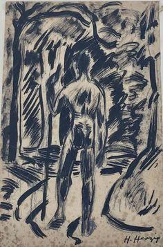 Heinrich Herzig (1887-1964) Tuschzeichnung ca. 1915 Art, Switzerland, Painting Art, Art Background, Kunst, Performing Arts