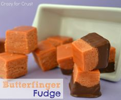 Butterfinger Fudge by crazyforcrust.com #fudge #butterfinger #candycorn