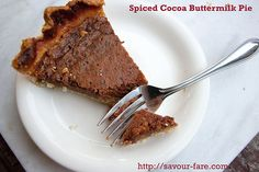 Spiced Cocoa Buttermilk Pie •The Domestic Front