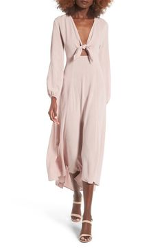 Lush Front Tie Maxi Dress available at #Nordstrom