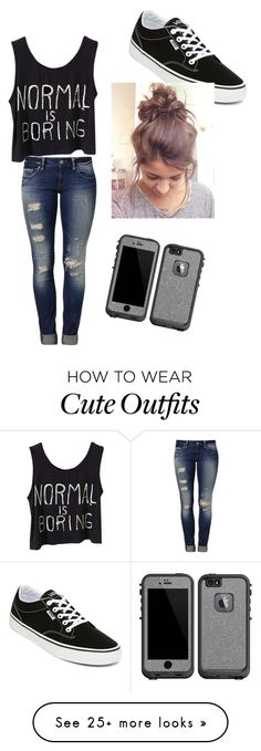 """My First Polyvore Outfit"" by hayhayheadley-hh on Polyvore featuring Mavi, Vans and LifeProof"