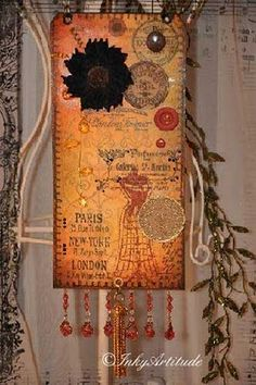 Inky Artitude: Tim Holtz Tags and a Halloween Giveaway