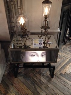 Luna Bella's Princess Trance end table is haute-hypnotic ... #MustSee in person. #LVMKT #HATtag C462