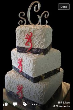 Country wedding cake / browning