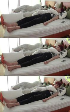 SBS Roommate Park Chanyeol - waking up in a wrong bed - that was so cute xD