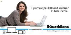 Campagna istituzionale Il Quotidiano della Calabria. Cliente: Finedit srl. Agenzia: Melaò.  Mar'yana Haydanka