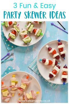 These 3 easy no-cook savoury skewer ideas are child-friendly and perfect for picnics, parties and fun snacks or lunches at home! Easy Egg Breakfast, Healthy Breakfast Casserole, Egg Recipes For Breakfast, Delicious Breakfast Recipes, Fruit Kebabs, Skewers, Food Art For Kids, Cooking With Kids, Skewer Recipes