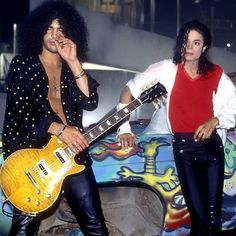 Slash & Michael Jackson.. Black or white? Or Billie Jean?