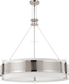 Nuvo Diesel - 6 Light Round Pendant w/ Slate Gray Fabric Shade - 60-4444 for $439.99