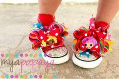 Lalaloopsy Shoes Custom Chuck Taylors by MyaPapayaBoutique on Etsy, $79.99