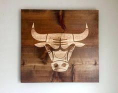Hand Carved WoodChicago BullsWood Wall ArtReclaimed