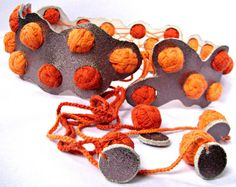 Orange not Milky ... way  Cotton bubbles by RattleTattleAround, $65.00 Crochet Necklace, Bubbles, Orange, Trending Outfits, Unique Jewelry, Handmade Gifts, Leather, Cotton, Dreams