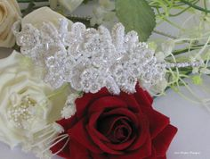 Statement Handmade Bridal Headpiece by JenDoyleDesigns on Etsy, Bridal Headpieces, Coconut, Trending Outfits, Rose, Unique Jewelry, Handmade Gifts, Flowers, Diy, Vintage