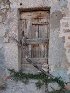 Old door in or nearby Paklenica, Croatia. Photographed by Marleen van de Kraats, no photoshop or paint etc.