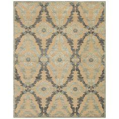 Multicolor art silk rug with a medallion motif. Loomed in Turkey.  Product: RugConstruction Material: Art silk