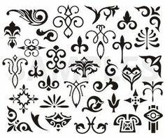 tiny design elements, vinyl-ready, ornaments, ornamental art, decorative vector images, vector cliparts, cuttable graphics