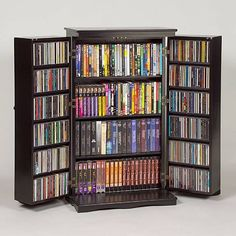 CD/DVD Cabinet With Doors To Hide From Your Sight. Cd Storage Units,