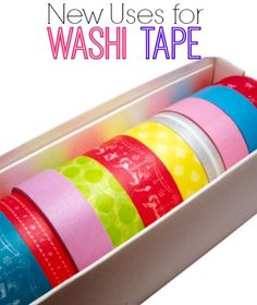 Discover six new uses for washi tape.   www.inspirationformoms.com #newusesforthings #washitape