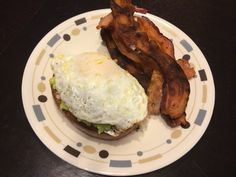 Siracha avocado and egg toast (added siracha on top after this pic was taken), with bacon