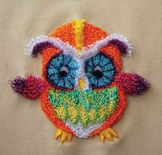 PUNCH NEEDLE OWL free pattern... http://dmc-usa.com/Inspiration/Projects/Punch-Needle/Punch-Needle-Owl.aspx