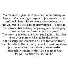 Time doesn't wait...