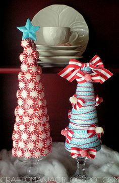 Simple Ribbon and Candy Trees