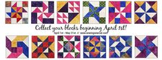 A fun online shop hop!  Collect all twelve precut blocks from the participating shops and enter for prizes!
