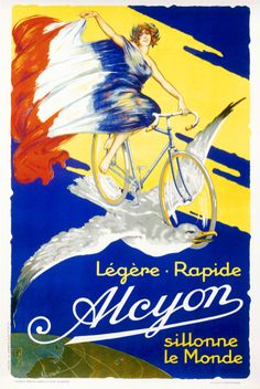 vintage bicycle ad for Alcyon