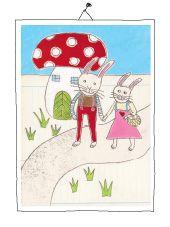 mr and mrs rabbit Rabbit, Mixed Media, Illustration, Painting, Fictional Characters, Art, Painting Art, Bunny, Art Background