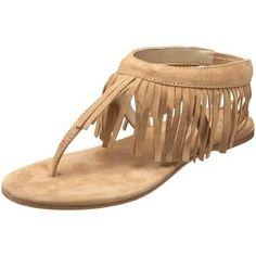 Butter Women's Arrow Fringe Thong Sandal