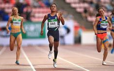 The Golden Girl Hima Das Hima Das won India's first ever track gold at World Athletics Championships . 19 Year Old Girl, 2020 Olympics, Running Race, Asian Games, Record Holder, Golden Girls, Olympic Games, Social Platform, Sports Women