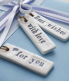 Ceramic gift tags lovely