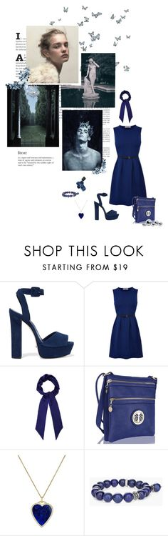 """gently drown in a dream of dark blue"" by svenjadobbert on Polyvore featuring Mode, Schutz, Christian Dior, Oasis, Henri Bendel, MKF Collection, Jennifer Meyer Jewelry, Chico's und blomus"