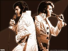"Elvis: ""Adonis"" jumpsuit. Best known for Opening Night [Madison Square Gardens] NEW YORK, June 9, 1972. Other known dates: MILWAUKEE, June 14, 1972; and CHICAGO 16, June 1972."