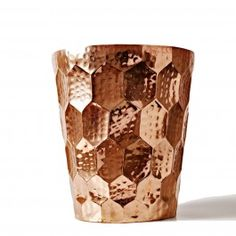 Tom Dixon Eclectic Hex Champagne Bucket - bashed copper champagne bucket, perfect for entertaining with at home. www.safariliving.com