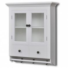 White Wooden Kitchen Wall Cabinet with Glass Door    Enjoy this Great Novelty. At Luxury Home Brands WE always Find Great Stuff for you :)