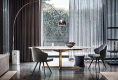"Catlin ""Dining"" table and Leslie little armchairs, Rodolfo Dordoni Design"