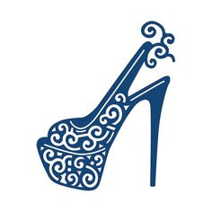 "Lambeaux de dentelle Dies par Stephanie Weightman ~ plate-forme Shoe, 2,17"" x2.68"" 137816"