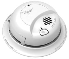 BRK ELECTRONICS 9120B 120V Smoke Alarm, 9V Battery Backup, Qty-6