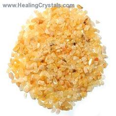 Tumbled Yellow Aventurine Chips-  www.healingcrystals.com