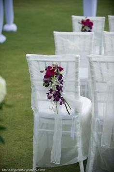 chair cover and chair florals