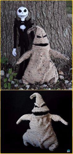 Crochet Oogie Boogie & Jack Skellington Free Pattern -Crochet Halloween Amigurumi Free Patterns