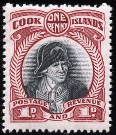 """1946 Scott 79 orange brown & black, Wmk 253 """"Polynesian Migratory Canoe"""" Quick History Niue (""""behold the coconut"""") is an island c. Old Stamps, Rare Stamps, Vanuatu, Commonwealth, Captain James Cook, Early Explorers, King George, Cook Islands, Stamp Collecting"""
