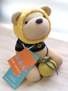 my honey bear & card Honey Bear, My Honey, Bear Card, Sock Dolls, Sock Animals, My Socks, Teddy Bear, Toys, Cards
