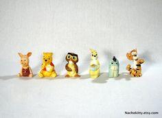 winnie the pooh figurine set (for baby room decor)