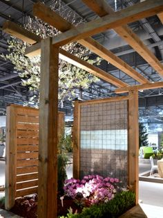 Toronto Gardens: Gabion fences at Canada Blooms 2016