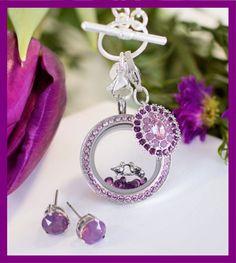 Origami owl spring amethyst purple hostess exclusive 2016. * light amethyst medium silver twist locket face with crystals by swarovski * * medium silver twist living locket base *