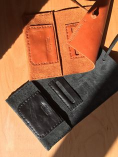 Leather Tobacco PouchHandmade pouch by toxleather on Etsy
