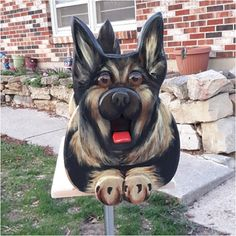 Equal parts terrifying and lovable! #Mailbox #Mail #Letters #Postal Via: https://www.instagram.com/scootinalong55